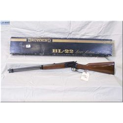 "Browning mod  BL 22 Grade Two Deluxe .22 cal tube fed lever action Rifle w/20"" bbl [ appears as new"