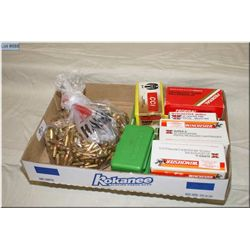Tray Lot : Approx. 550 Rnds .9 mm cal ammo in boxes - Bag Lot :  Approx 400 rnds .9 mm loose ammo
