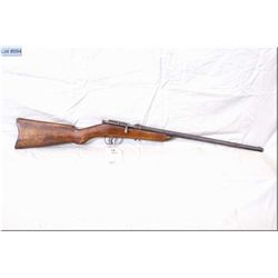 "Cooey mod Canuck, .22 LR cal single shot bolt action boy's Rifle w/18"" bbl [ traces of blue fading t"