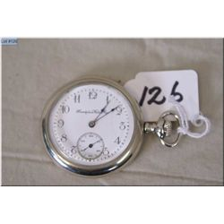 Hampden Model 1, 14 Size Pocket Watch, Canton Ohio, Made in 1909 silveroid case, lever set, good wor