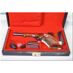Browning mod Medalist .22 LR cal Semi Auto Pistol w/172 mm vent rib bbl [ appears v/good, blued fini