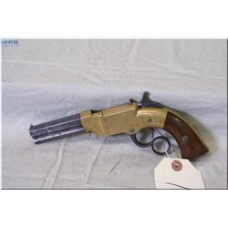 Volcanic by New Haven Arms Co. Mod No 1 Pocket Pistol, .31 cal Small Size Brass Frame lever action P