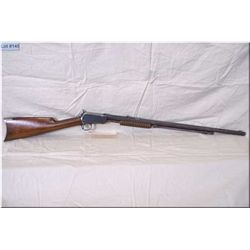 "Winchester mod 90 .22 Short cal pump action Rifle w/24"" oct bbl [ patchy fading blue finish, crescen"