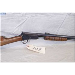 Marlin mod 37 .22 LR cal pump act Rifle w/ 24  rnd bbl [ blue finish starting to fade, straight stoc