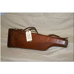 Leather Leg o Mutton Shotgun Case [ w/ R.D. Dunning leather carved in top]
