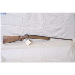 """Winchester mod 67 .22 cal single shot Rifle w/ 27"""" bbl [ poor rusty finish, wood cracked at forend,"""