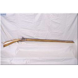 """Maker Unknown, Kentucky Style .40 Perc cal Full Wood Black Powder Rifle, w/39"""" oct bbl [ blue turned"""