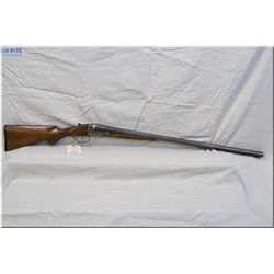 """Janssen & Sons mod Side by Side .12 Ga Shotgun w/30"""" bbls [ fading patchy blue, rounded checkred p.g"""