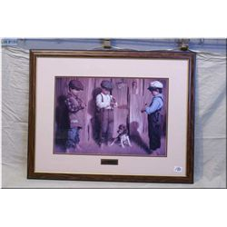 Odd Man Out Fr. Print by Jim Daly [ 1930's era scene of three young boys flipping a coin]