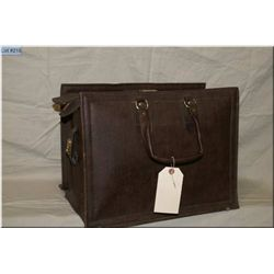 """Heavy Leather """"Salesman's Sample"""" Bag, excellent for transporting books, pistols, etc"""