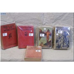 Lot : Antique Hd Cover Books : The Last of the Mohicans J.F. Cooper - The Lone Indian Ca 1927 Braden