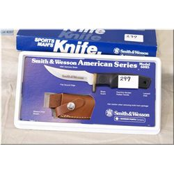 Smith & Wesson Limited Edition  Hunting Knife American Series 6085 w/leather sheath  [ New in orig b