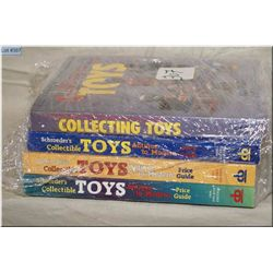 Bundle of Four Soft Cover Ref Books on Toys : Collecting Toys No 5 - 3 Schroeder's Collectible Toys