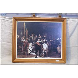 Lg Framed Print of Musketeer & Matchlock Rifles & Spears Era