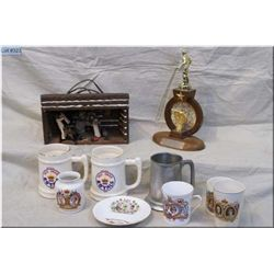 Box Lot : 5 Royalty Comm Items : 1937 Coronation Vase  & Tumber - 1953 Queen Eliz Corn Mug - Corn Sa