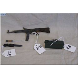 Lot : Three Miniature Plastic  Replica WWII Items : Sturm Gewehr MP 44 Full Auto Rifle w/sling 6 1/2