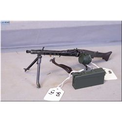 Lot: Miniature Replica Plastic  WWII German Full Auto MG42 Machine gun w/folding stand, etc & green