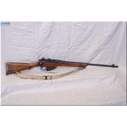 "Enfield No 4 Mk I .303 cal Rifle w/25"" bbl  [ fading patchy blue finish, sporterized wood w/crack be"