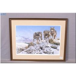 "Seerey Lester Fr Ltd Edition Print, "" High Ground Wolves"", Artist Signed, # 346/950  1983"