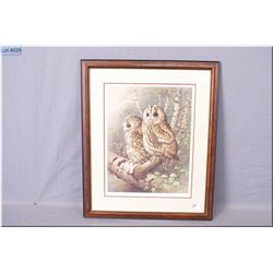 "Raymond Watson Fr. Print ""The Tawny"" Owl, Artist signed 1983"