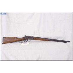 "Winchester mod 1892 Circa 1898  .25-20 WCF cal lever act Rifle w/accurized to 23 1/2"" bbbl w/mag tub"