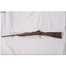 """U.S. Springfield mod 1873 Trapdoor .45-70 cal saddle ring Carbine w/22"""" bbl [ fading patchy blue tur"""