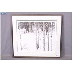 Robert Bateman Fr. Ltd Edtion Print, Mule Deer in Aspen, # 446/950 Artist Signed 1980