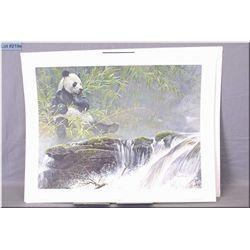 Large Un-Framed Ltd Edition Robert Bateman, Giant Panda, # 509/5000, Artist Signed 1985