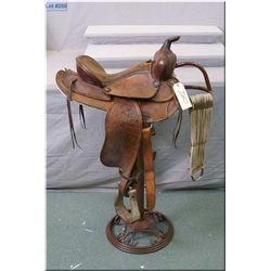 "Western Rawhide Leather  ( St. Boniface 6 Man ) Ladies Riding Saddle, w/14"" seat, complete with cinc"
