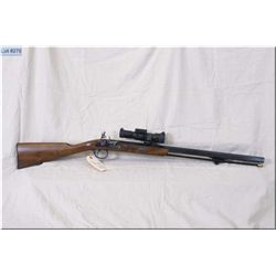 """Traditions mod PAPELLET .50 cal flintlock Rifle w/26"""" bbl [ appears excellent, blue finish, case col"""