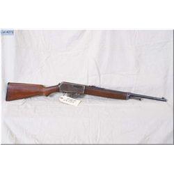 """Winchester mod 1907 .351 SL cal clip fed semi auto Rifle w/20"""" bbl [ faded blue finish, pistol grip"""