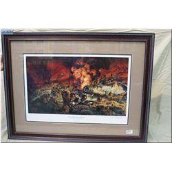 "Ltd Edition Framed Print, ""Though I be The Lone Survivor"" , Battle of Cisterna, 30 January 1944, Tas"