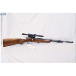 "Cooey mod 60 .22 LR cal tube fed bolt action Rifle w/24"" bbl [ barrel sights, fitted w/Weaver B4 sco"