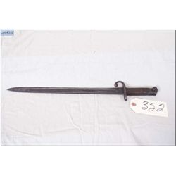 "Remington Arms Co. ilion N.Y. marked Bayonet w/approx 60"" blade, some pitting"