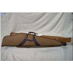 Bundle : Two Gun Cases [ fleece lined brown scoped & leather hand tooled