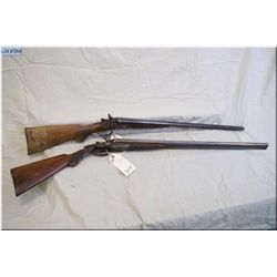 "Lot of Two Guns : H.Spencer mod Side By Side Hammer .12 Ga Shotgun w/30"" bbls [ fading patchy blue,"