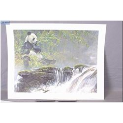 Lg Un-Framed Ltd Edition Print, Robert Bateman, Giant Panda, # 3060/5000, Artist Signed 1985