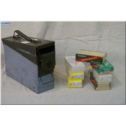 Small Green Metal Ammo Box : Approx 150 Rnds .38 Spec Remington ammo - 100 Rnds Peters .38 Spec Pist