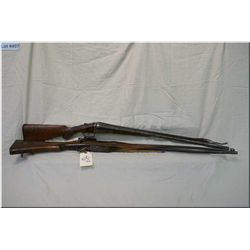 Lot of Two Items : Enfield ( RE-P-14) .303 cal Rifle w/blown up barrel & destroyed part of forend st
