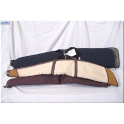 Lot : Four Quality Gun Cases : black Can Arm - unknown green & brown - tan unknown - brown Kolpin