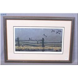 "Framed Ltd Edition Print, ""Homestead Mallards"" # 408/5500 Artist Signed George Lockwood"