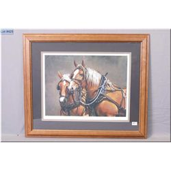 "Framed Ducks Unlimited Ltd Edition Print, "" An honest day's work"" # 609/4000, Artist Signed by Adeli"