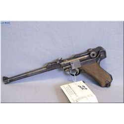 "Luger (DWM) mod 1914 Dated 1918 .9 MM Cal 8 shot semi auto Pistol w/203 MM ( 8"") bbl [ appears all m"