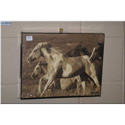 A small giclee featuring horses