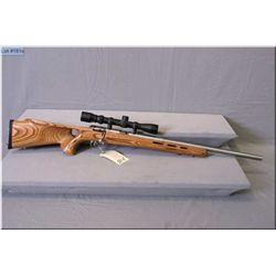 "Savage mod MK II .22 LR cal clip fed bolt action Rifle w/21"" bull barrel [ stainless finish, laminat"