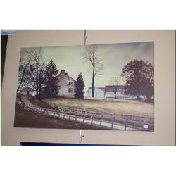 A giclee picture of a rural farmhouse