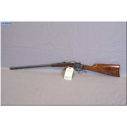 "Winchester mod 1885 Lo-Wall .32 WCF cal single shot Rifle w/28"" 1/2 Oct 1/2 Rnd bbl [flat side rcvr,"