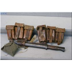 K98 Bayonette, ammo pouches, oil and cleaning kit