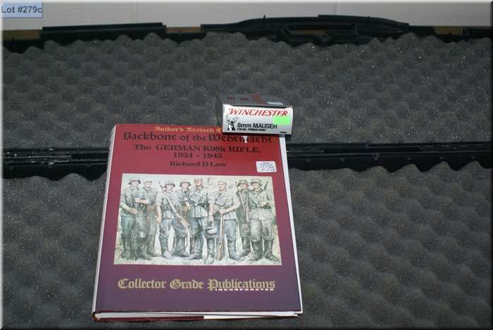 1-20 ROUND BOX OF 8MM Mauser ammo, harcover book