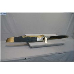 Vintage Gold Painted Metal  Airplane Propeller, Sensenich Corp TPC # 886  [ w/some damage ]